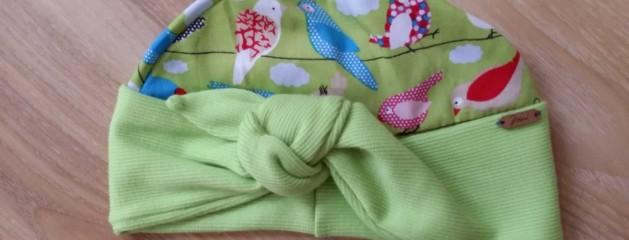 grüner Vögelchen-Turban
